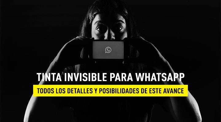 WhatsApp Tinta invisible
