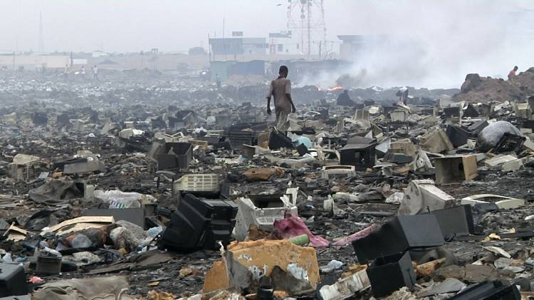 basura moviles electronica
