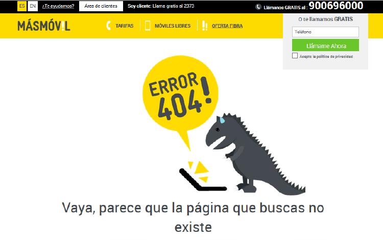 Los errores 404 más graciosos - MÁSMÓVIL