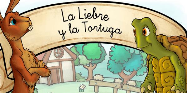 app cuento de la liebre y la tortuga