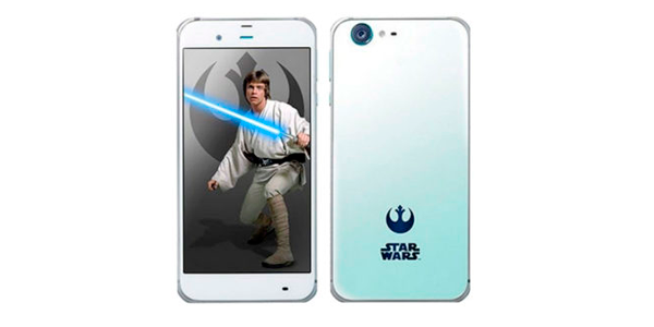 movil sharp star wars lado luminoso