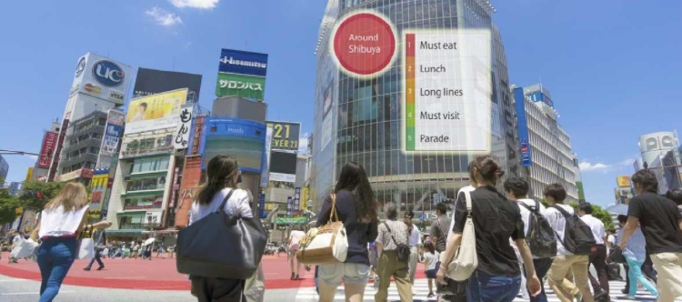 Gente en la calle en Japón