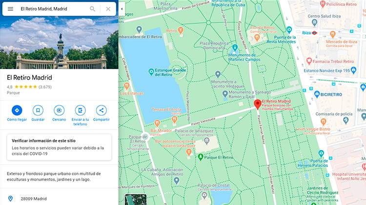 craer trayecto google maps 2