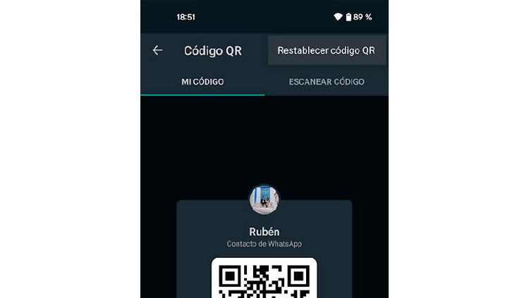restablecer codigo qr whatsapp