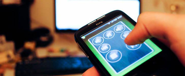 usando un smartphone como mando para TV