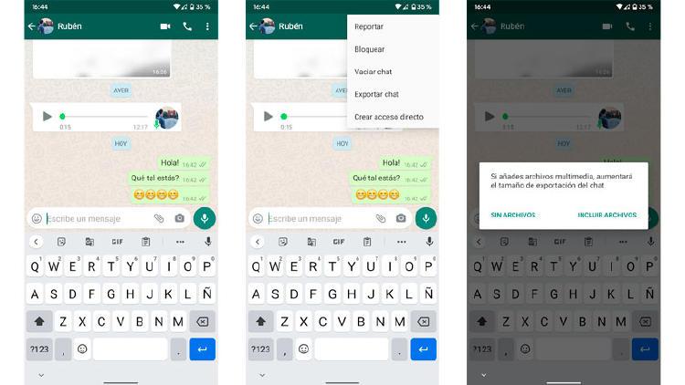 mover conversación whatsapp telegram