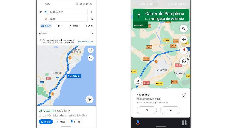 radar fijo google maps