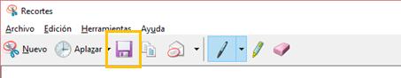 Guardar recortes en Windows