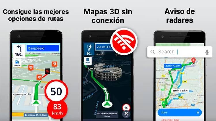Radares y Mapas GPS sin internet