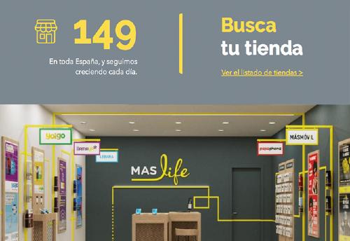 MASlife Localizador de tiendas