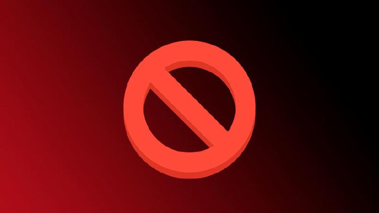 bloquear prohibido