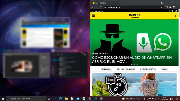 dividir pantalla windows 10