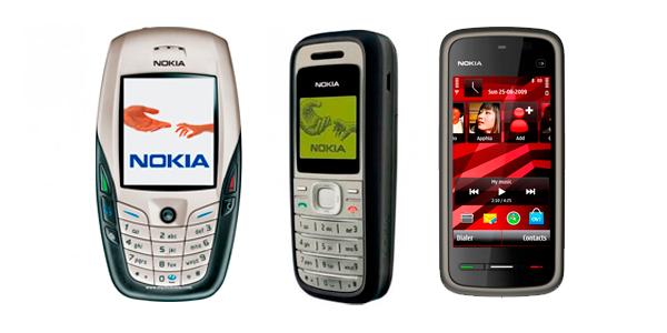 Nokia 6600, Nokia 1200, Nokia 5230
