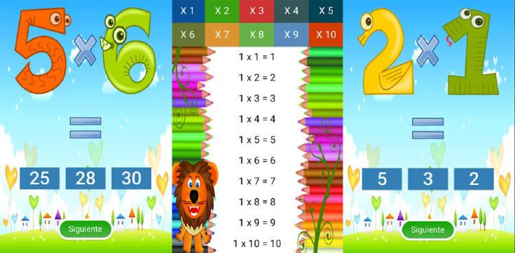 tablas de multiplicar juegos
