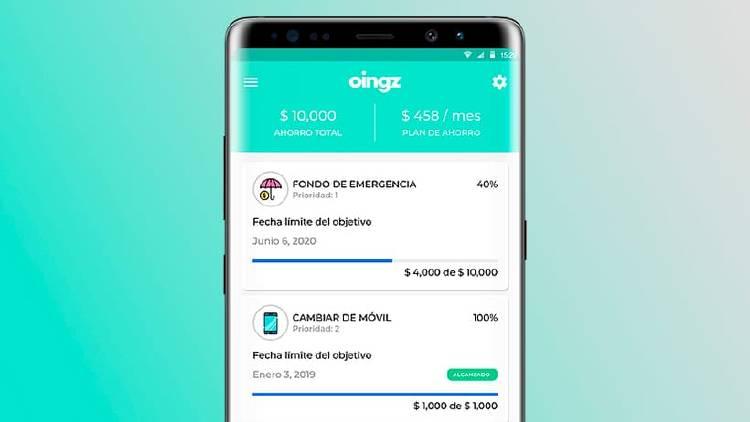app dinero banco ahorrar oingz