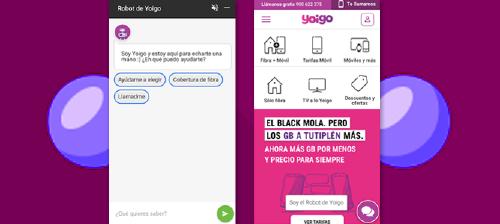 Yoigo es el primer operador de telecomunicaciones en España en contar con un robot orientado a labores comerciales y desde el que puedes consultar la cobertura, resolver dudas de las tarifas, obtener recomendaciones sobre qué tarifa comprar
