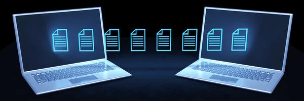 ordenadores enviando datos