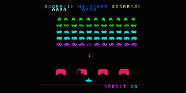 Juego retro Space invaders