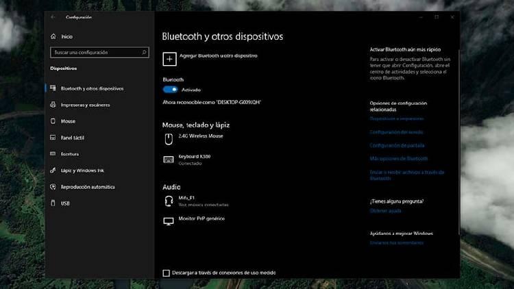 Dispositivos bluetooth