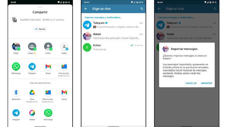 importar conversación whatsapp telegram
