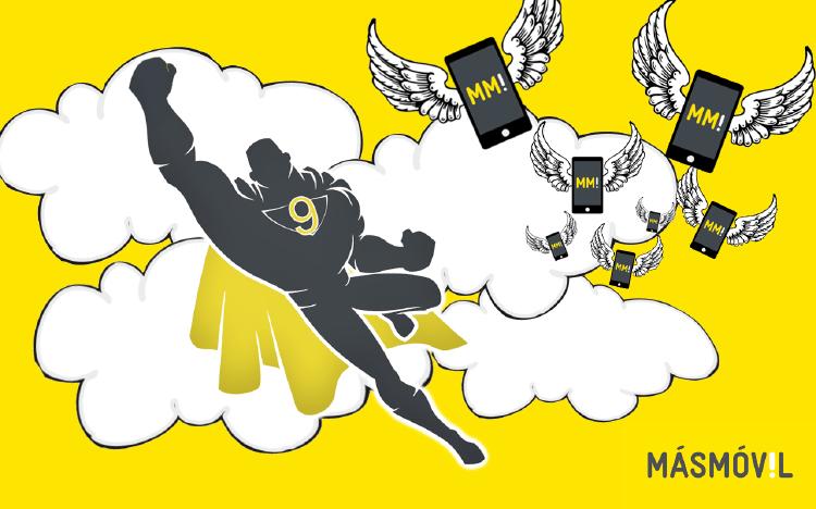 fondo de pantalla campaña superheroes masmovil