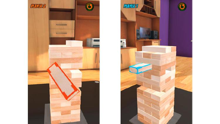 juego torre de madera movil