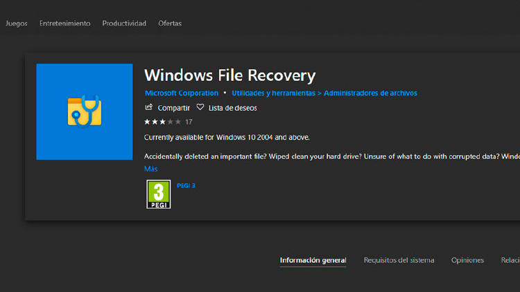 recuperar archivos windows 10