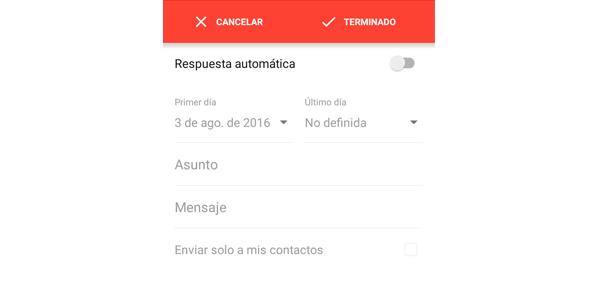Respuesta Gmail móvil