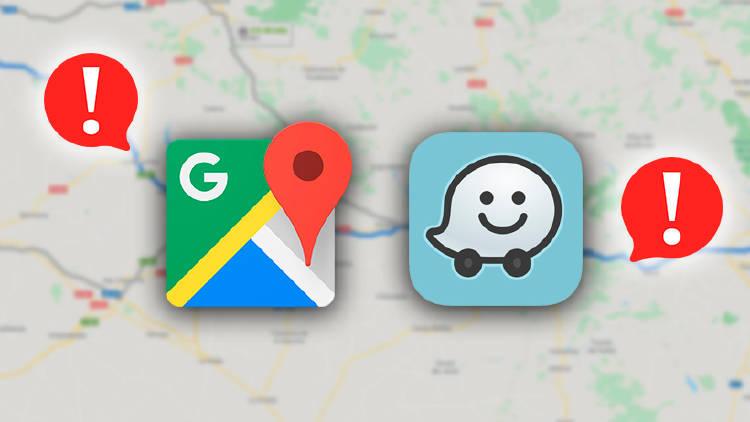 Alertas carretera Google Maps y Waze