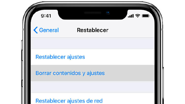restablecer iphone