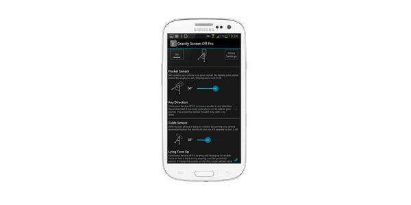 Gravity Screen: bloquea y desbloquea tu smartphone sin pulsar un botón | Funcionamiento Gravity Screen