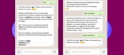 pioneros en Inteligencia Artificial y Atención al Cliente, Yoigo es la primera marca en España que lanza una campaña de publicidad en Facebook/Instagram con salto a Whatsapp