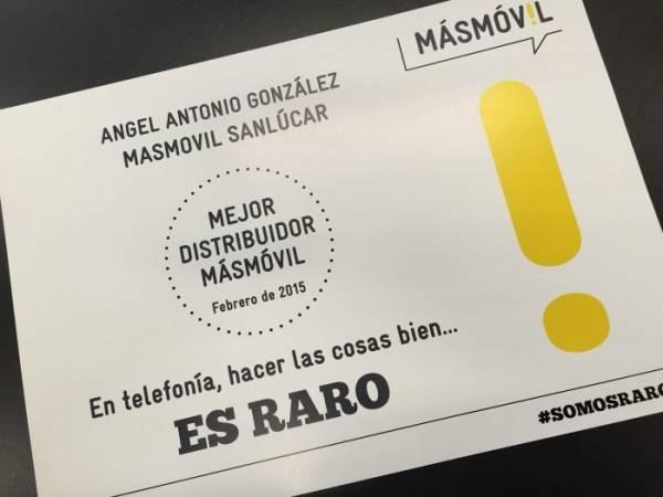 Mejor distribuidor MÁSMÓVIL febrero 2015
