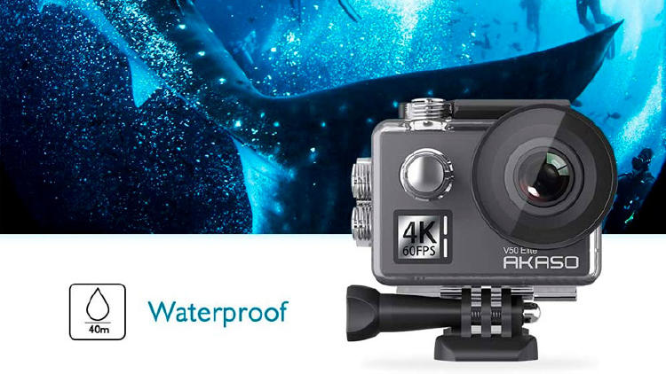 cámara deportiva acuática