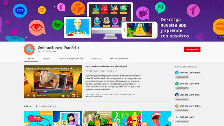 canales youtube niños aprender