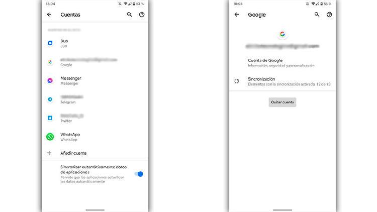 protección cuentas google android
