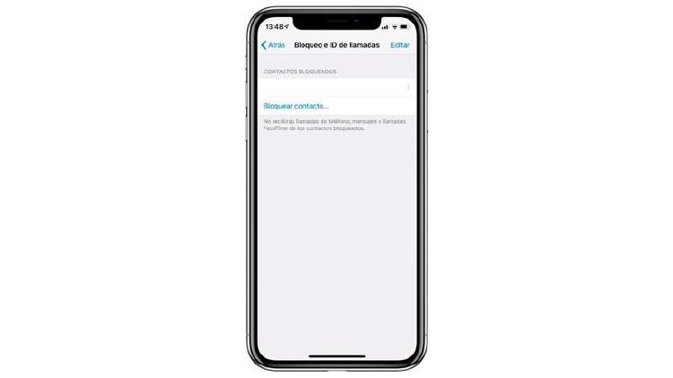 numeros bloqueados iphone