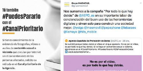 cuenta con el apoyo de entidades como Atresmedia, Mediaset y RTVE, Fundación ANAR, FAD, EMT y Metro de Madrid, Clear Channel, y Google, que también están contribuyendo a la difusión de los contenidos realizados.