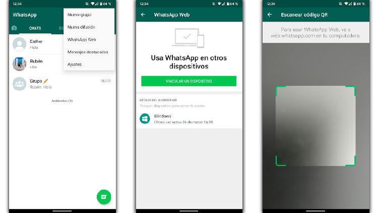 whatsapp dos moviles qr