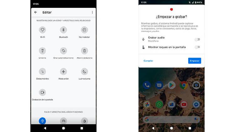 grabar pantalla android 11