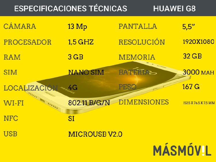 caracteristicas Huawei G8