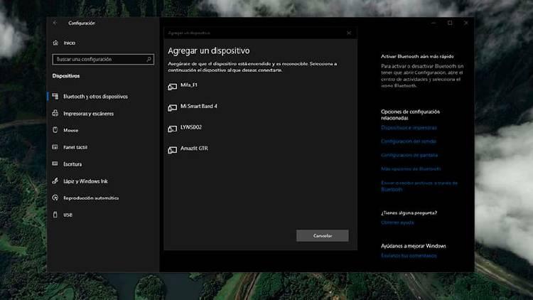 Bluetooth en Windows 10, cómo configurar dispositivos