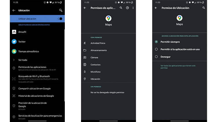 permisos ubicacion android