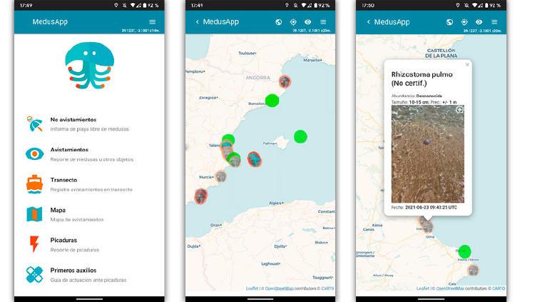 app medusas mapa españa