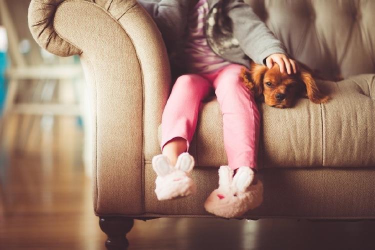 niña perro