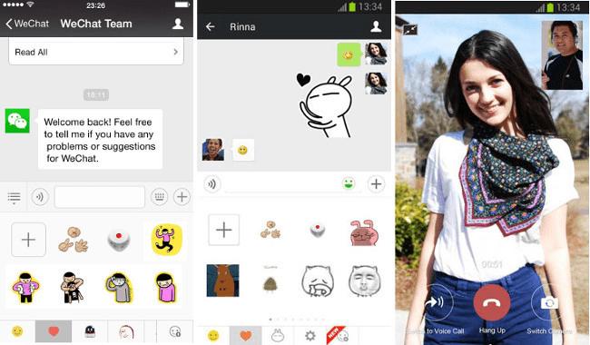 app mensajería | wechat
