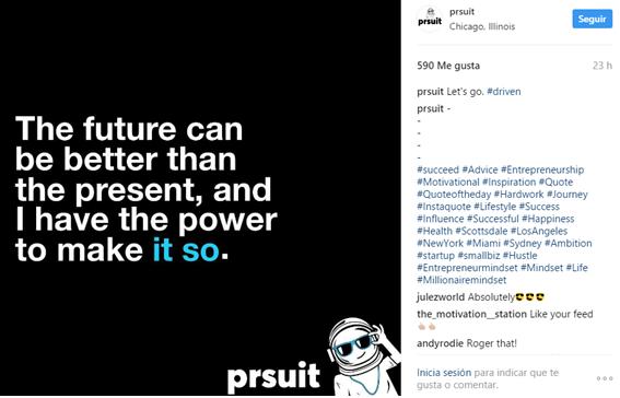 perfil de instagram PRsuit