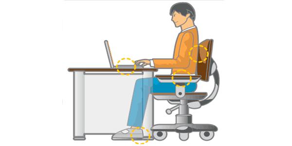 Aprender a sentarse bien frente al ordenador|Aprender a sentarse bien frente al ordenador|Cómo sentarse frente al ordenador