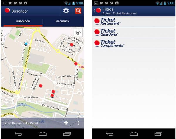 Capturas de pantalla, versión Android