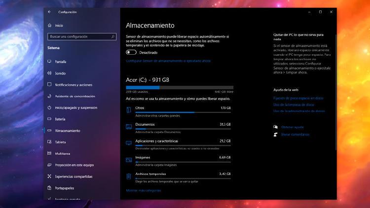 borrar archivos temporales Windows